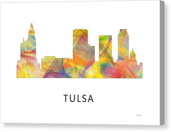 Ok Canvas Print - Tulsa Oklahoma Skyline by Marlene Watson