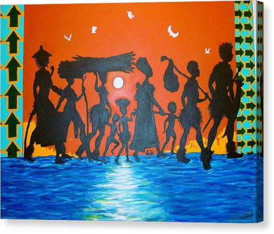 Uhuru Series Canvas Print by Malik Seneferu