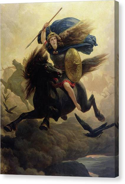 God Of War Canvas Print - Valkyrie by Peter Nicolai Arbo
