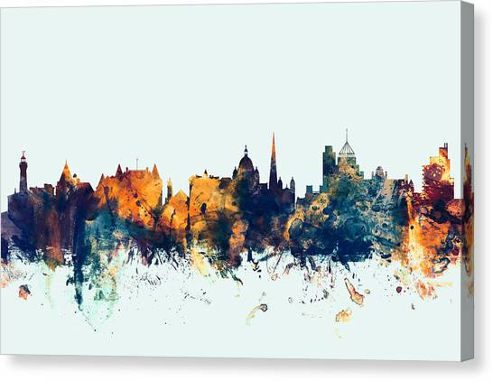 Victoria Canvas Print - Victoria Canada Skyline by Michael Tompsett