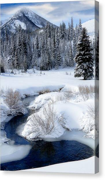 Wasatch Mountains In Winter Canvas Print