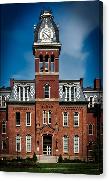 Big Xii Canvas Print - Woodburn Hall - West Virginia University by Mountain Dreams