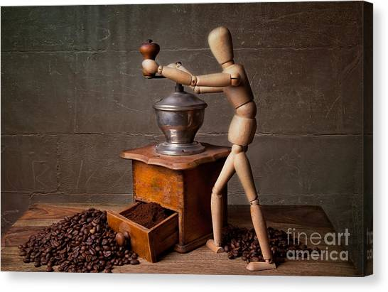 Espresso Canvas Print - Working The Mill by Nailia Schwarz