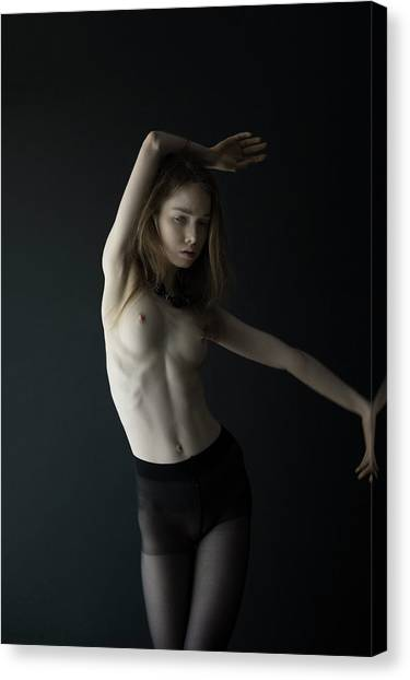 Young Woman In Pantyhose  Canvas Print
