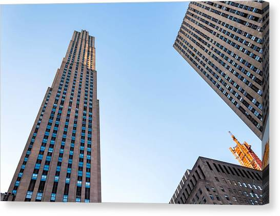 Canvas Print featuring the photograph 30 Rock by Alison Frank