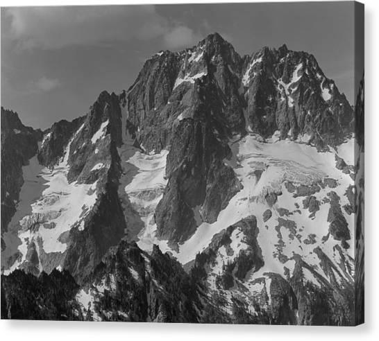 304630 Bw North Face Mt. Stuart Canvas Print