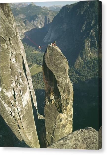 306540 Climbers On Lost Arrow 1967 Canvas Print