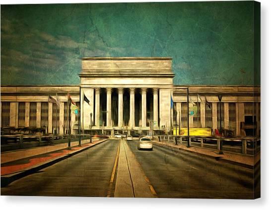 Philly Canvas Print - 30th Street Station Traffic by Trish Tritz