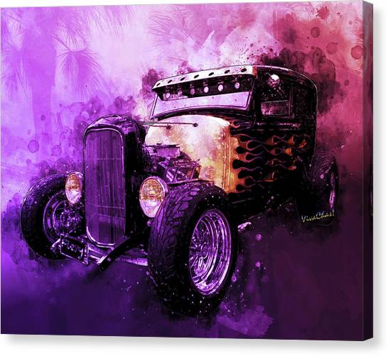 31 Ford Model A Fiery Hot Rod Classic Canvas Print