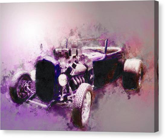 32 Ford Low Boy Roadster Watercoloured Sketch Canvas Print