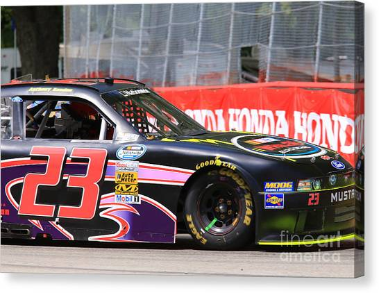 Richard Childress Canvas Print - Ford Nascar Racing by Douglas Sacha
