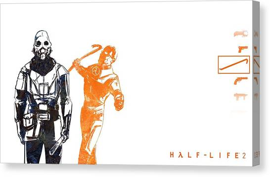 Half Life Canvas Print - 32070 Half Life by Mery Moon