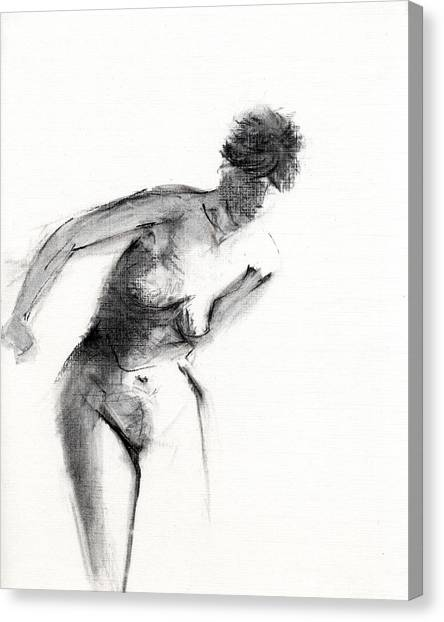 Nude Canvas Print - Rcnpaintings.com by Chris N Rohrbach