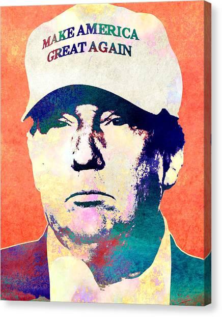 Donald Trump Canvas Print - Donald Trump 2016 Presidential Candidate by Elena Kosvincheva