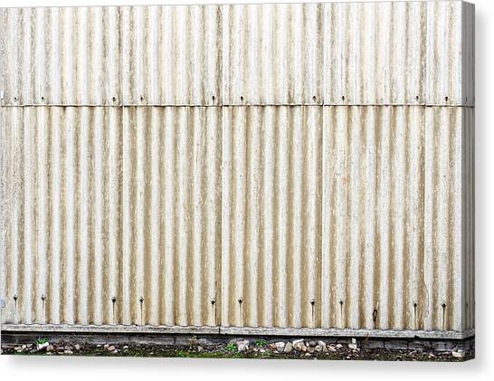 Architectural Detail Canvas Print - Metal Background by Tom Gowanlock