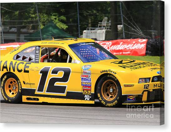 Richard Childress Canvas Print - Sam Hornish Jr. Racing by Douglas Sacha
