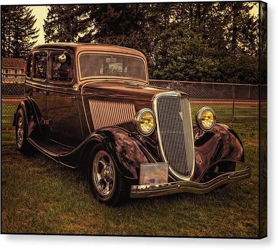 Cool 34 Ford Four Door Sedan Canvas Print