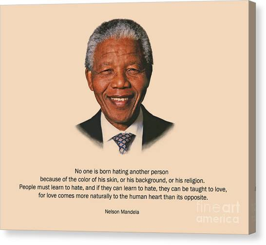 34- No One Is Born Hating Canvas Print