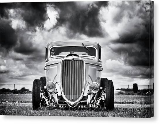 Street Rods Canvas Print - 34 Rod by Tim Gainey