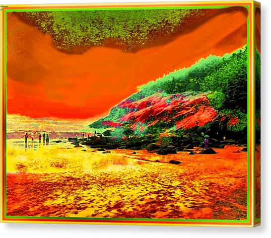 34g   Beach After A Storm Canvas Print by Ed Immar