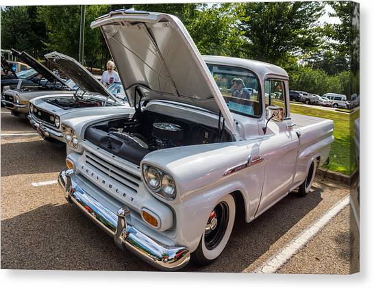 Hall County Sheriffs Office Show And Shine Car Show Canvas Print