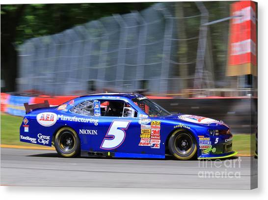 Richard Childress Canvas Print - Stockcar Motorsports by Douglas Sacha