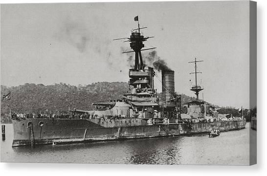 Battleship Canvas Print - Ship by Super Lovely