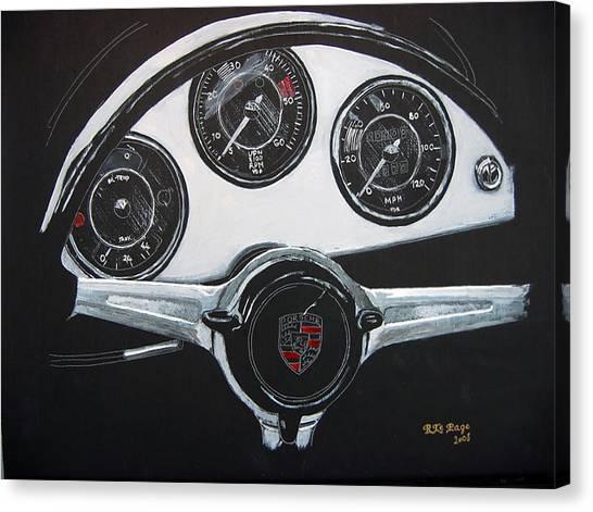 356 Porsche Dash Canvas Print