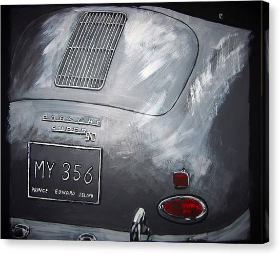 356 Porsche Rear Canvas Print