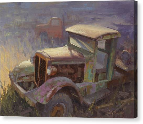 Rusty Truck Canvas Print - 36 Corbitt 4x4 by Cody DeLong