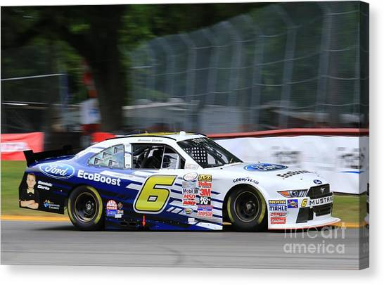 Richard Childress Canvas Print - Wallace Nascar Racing by Douglas Sacha