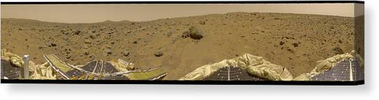 360 Degree Panorama Mars Pathfinder Landing Site Canvas Print