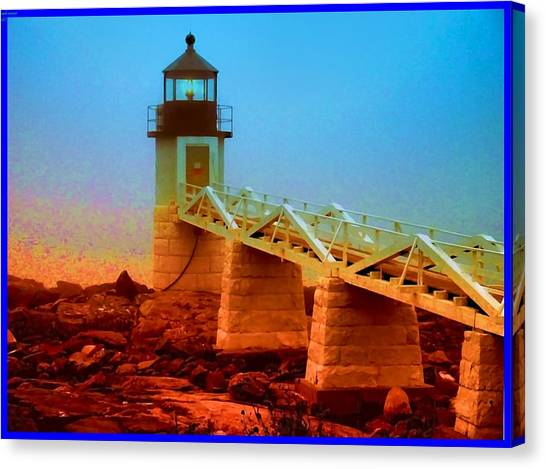 3600001  Maine Lighthouse Canvas Print by Ed Immar