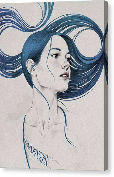 Girl Canvas Print - 361 by Diego Fernandez
