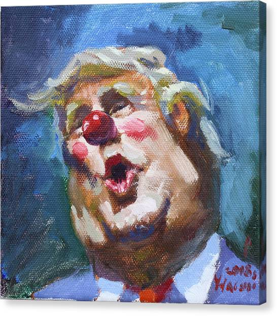 Donald Trump Canvas Print - 365 Days With This Clown by Ylli Haruni