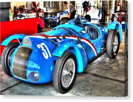 Delahaye Fast From The Front Canvas Print
