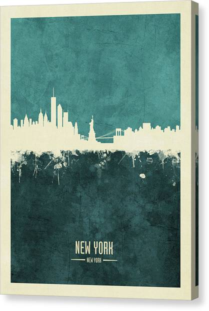 New York Skyline Canvas Print - New York Skyline by Michael Tompsett