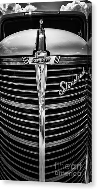 38 Chevy Truck Grill Canvas Print
