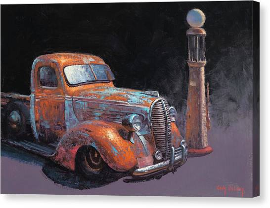 Old Trucks Canvas Print - 38 Fat Fender Ford by Cody DeLong