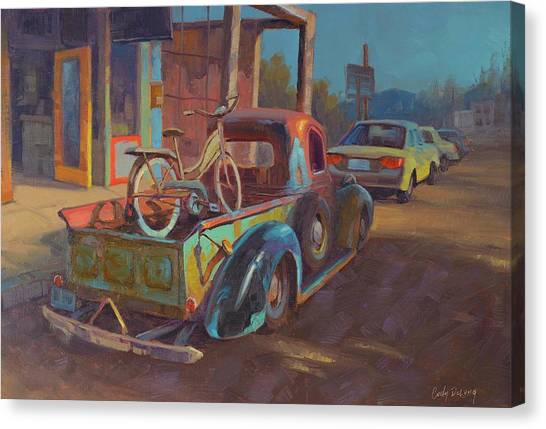 Old Trucks Canvas Print - 38' Ford In Jerome, Az by Cody DeLong