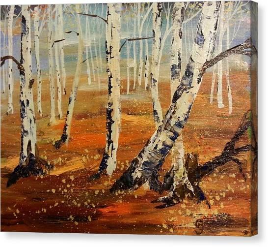 #38 Last Leaves Canvas Print