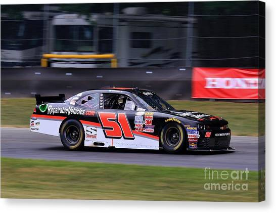 Richard Childress Canvas Print - Chevrolet Motorsport by Douglas Sacha