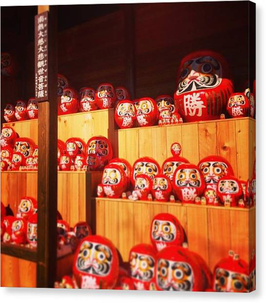 Tumbling Canvas Print - Japanese Traditional Doll / Daruma by Astro Girl