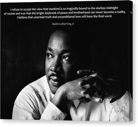 39- Martin Luther King Jr. Canvas Print