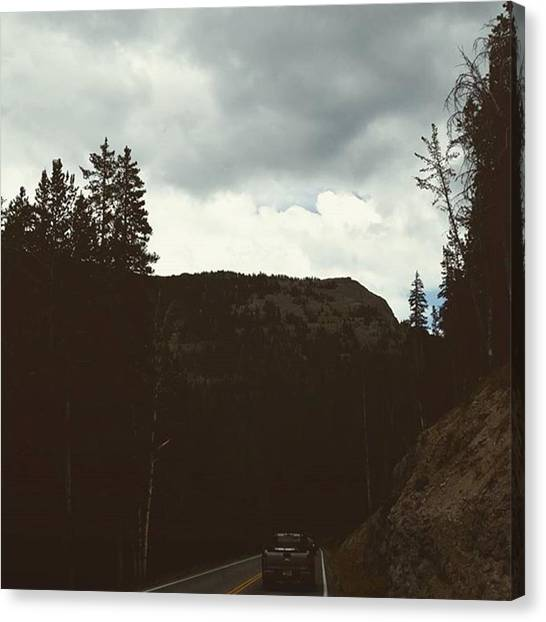 Yellowstone National Park Canvas Print - Highway To Heaven by Jonathan Stoops