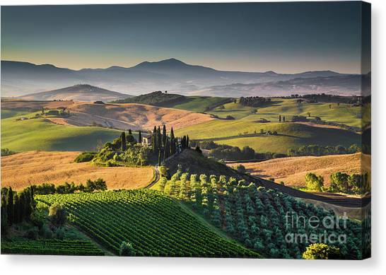 A Morning In Tuscany Canvas Print