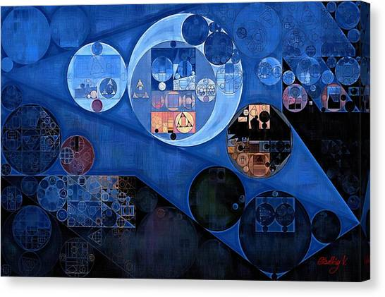 Polo Canvas Print - Abstract Painting - Yale Blue by Vitaliy Gladkiy