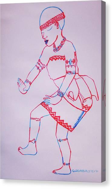 Adowa Dance Ghana Canvas Print