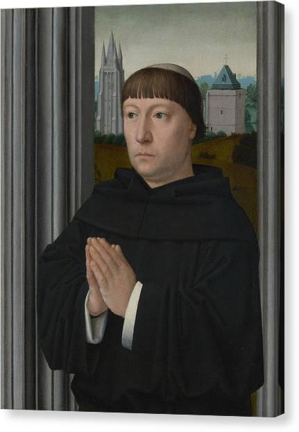 Early Christian Art Canvas Print - An Augustinian Friar Praying by Gerard David