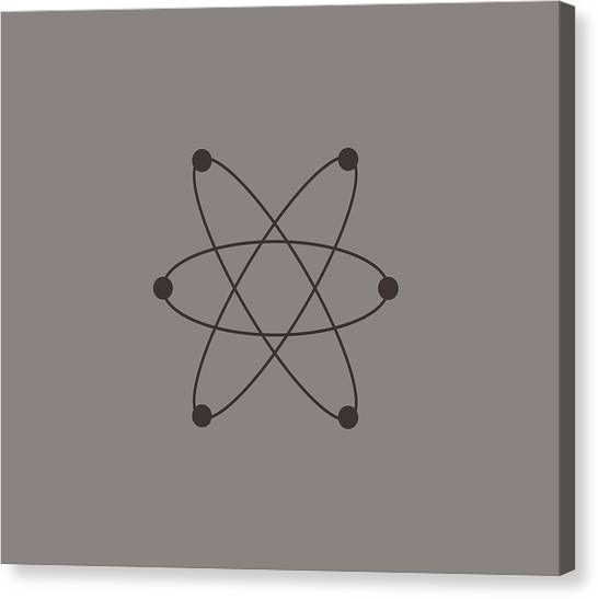 Biology Canvas Print - Atom by Marco Livolsi